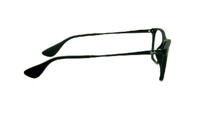 ... Óculos Ray-Ban RB7053 acetato estilo gatinho preto fosco com haste de  metal preta f25ac0cf14