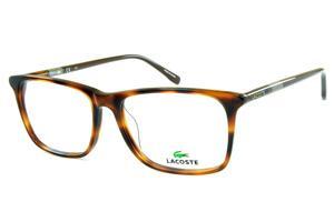 Óculos Lacoste L2752 Demi tartaruga efeito onça com haste cinza e marrom  café 0b60f15450