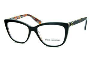 e9cc66173fd2c Óculos Dolce   Gabbana DG3190 Demi tartaruga com a parte interna florida e  logo de metal