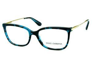 237e4506c350f Óculos Dolce   Gabbana DG3243 Azul e preto mesclado com hastes de metal