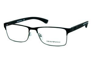 Óculos Emporio Armani EA1052 Metal preto fosco e chumbo com hastes  emborrachada 9f409bccfe