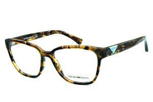 Óculos Emporio Armani EA3094 Demi tartaruga com logo azul claro 1fa45e639f
