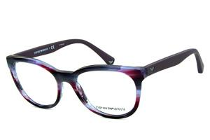 Óculos Emporio Armani EA3105 Lilas e roxo mesclado com hastes emborrachadas  em roxo fosco 2054245350