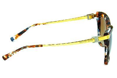 548bba29560d0 ... Óculos de Sol Michael Kors MK2027 Audrina 3 Marrom mesclado com hastes  de metal dourado ...