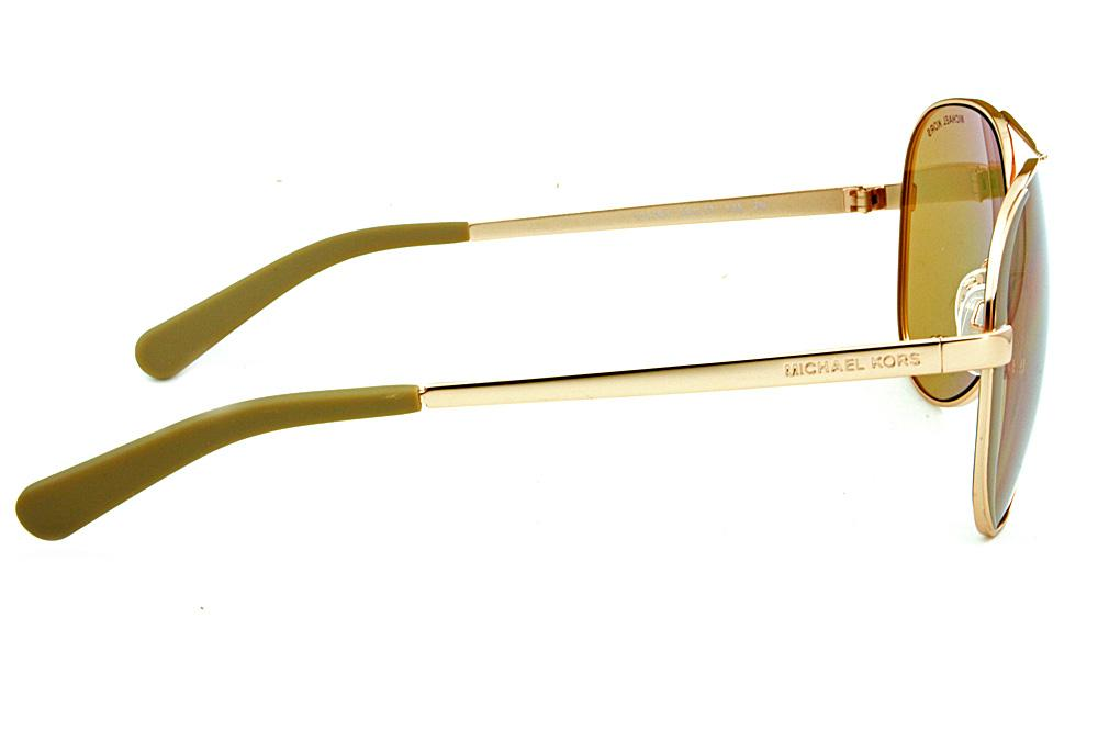 0f06920320c55 Óculos de Sol Michael Kors MK5004 Bronze lentes espelhadas rosê