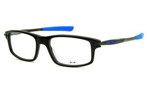 593a6d673b978 Óculos Oakley OX1100 Black   Royal Blue acetato preto brilhante com ponteiras  emborrachadas azul