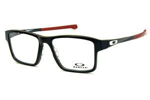 Óculos Oakley OX8040 Chamfer 2 Acetato Preto com ponteiras emborrachadas  vinho e logo branco 9bf37c37d3