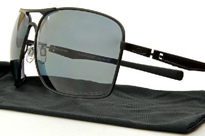 14584694a7644 ... Óculos de sol Oakley OO4063 PLAINTIFF SQUARED metal preto com lentes  polarizadas