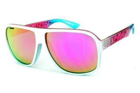 7edd17e01fe12 Óculos Absurda Calixto branco multicor com lente violeta amarela espelhado
