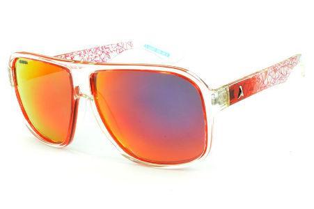 Óculos Absurda Calixto vermelho e transparente com lente amarela vermelha  espelhada 75cbc9e98d