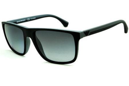 Óculos Emporio Armani EA4033 de Sol POLARIZADO preto e cinza com haste  efeito borracha 0162ed0dc1