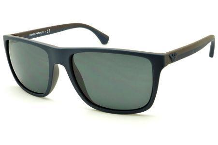 Óculos Emporio Armani EA4033 de Sol azul e marrom com haste efeito borracha 569c75361f