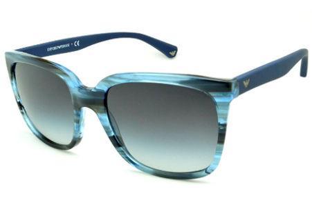 Óculos Emporio Armani EA4049 de Sol azul e preto camuflado com haste efeito  borracha 24a69fae3a