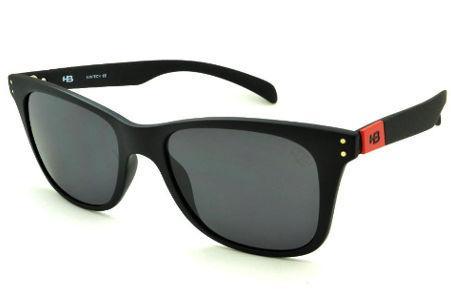 Óculos HB Land Shark 2 Matte Black Red preto fosco emblema vermelho e lente  cinza 46355aedb4