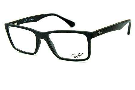 Óculos Ray-Ban RB7096 Acetato Preto fosco com hastes preta brilhante e  emblema metal 5eb76a1a57