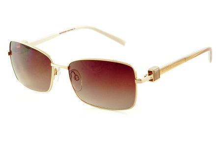 Óculos de Sol Ana Hickmann AH3121 dourado lente marrom com haste 2 faces  caramelo branco ea97aa6918