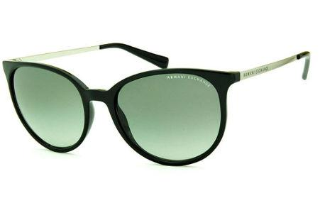 cbc456f758ac1 Óculos de Sol Armani Exchange AX4048SL preto com lentes cinza degradê hastes  metal prata logo preto