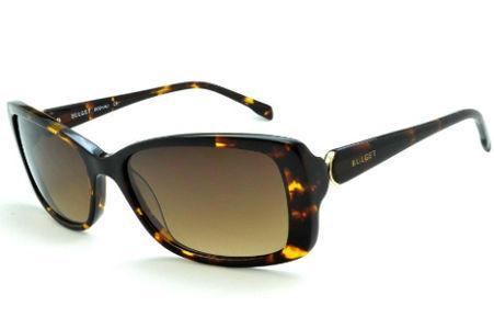 8f7a74dd2f365 Óculos de Sol Bulget cor demi tartaruga efeito onça e detalhe dourado