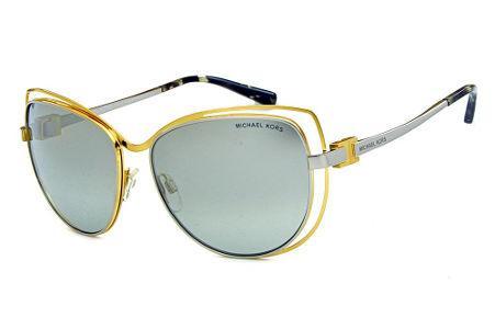 7b2e6f6e695cd Óculos de Sol Michael Kors MK1013 Audrina1 Metal dourado e prata com  espelho prata suave