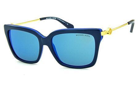 Óculos de Sol Michael Kors MK6038 Abela 1 Azul com haste em metal dourado e  espelho 7b9b0220d4