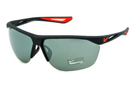 3321add8a0610 Óculos de Sol Nike Tailwind EV0915 Preto fosco com lente semi espelhada e  detalhe vermelho