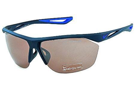 884b207a1718d Óculos de Sol Nike Tailwind EV0946 Preto fosco com lente semi espelhada e  detalhe azul