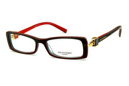 b559b7f5dde5c Óculos Ana Hickmann AH6229 acetato vermelho com haste giratória