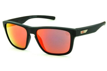 Óculos HB 90112 H-BOMB Preto fosco e lente vermelha espelhada edição Tony  Kanaan 7be7e0b9c0