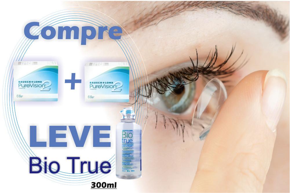 Lente de contato PUREVISION 2 6 lentes esférico +3,25 b0e5bb00b6