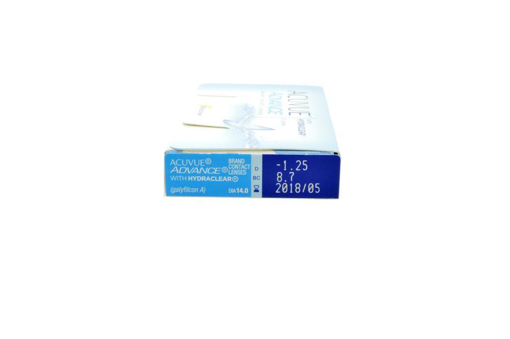 Lente de contato Acuvue Advance Hydraclear 6 lentes esférico +0,50 9f30300816