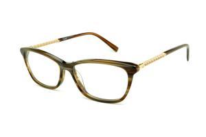 Óculos Ana Hickmann AH6225 acetato marrom caramelo mesclado com haste  dourada 32de0efa74