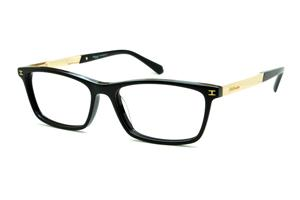 Óculos Ana Hickmann HI6015 acetato preto com haste metal dourada d6865763c5