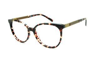Óculos Ana Hickmann AH6230 tartaruga efeito onça com haste giratória dourada a977d4b882