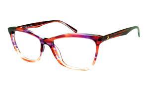 Óculos Ana Hickmann HI6013 efeito estampa lilás, vinho e roxo em acetato b474e06bc9