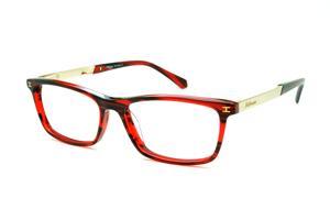 5a959029f4260 Óculos Ana Hickmann HI6015 vermelha efeito estampa com haste dourada  flexível de mola