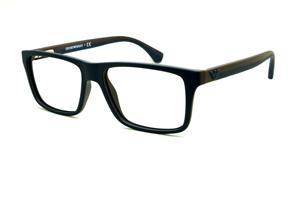 Óculos Emporio Armani EA3034 azul e marrom com haste efeito borracha cf5d495ee2