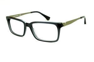 Óculos Emporio Armani EA3030 em acetato cinza com haste em metal dourado  opaco 8bbf29520d