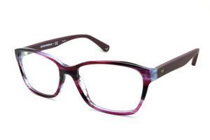 Óculos Emporio Armani EA3060 lilas e roxo camuflado em acetato com haste  efeito borracha ba2fe1fd45