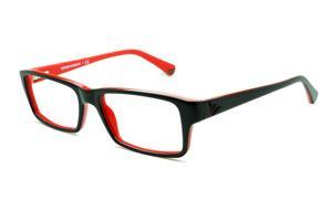 Óculos Emporio Armani EA3003 preto e vermelho em acetato com haste flexível  de mola 3c51da399c