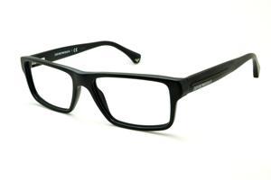 Óculos Emporio Armani EA3013 preto fosco em acetato com haste efeito  borracha e16b4914a9