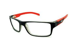 Óculos HB Black Matte Red - Acetato preto fosco e haste vermelha 242fc2ae46