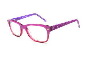 Óculos Disney Princesa acetato roxo e pink mesclado com haste flexível de  mola 5ce3537be3
