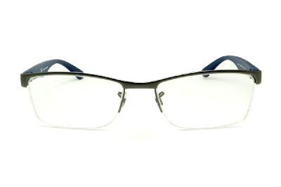 ... Óculos Ray-Ban RB6301 grafite com haste azul de mola flexível e fio de  nylon ... c8276170fb