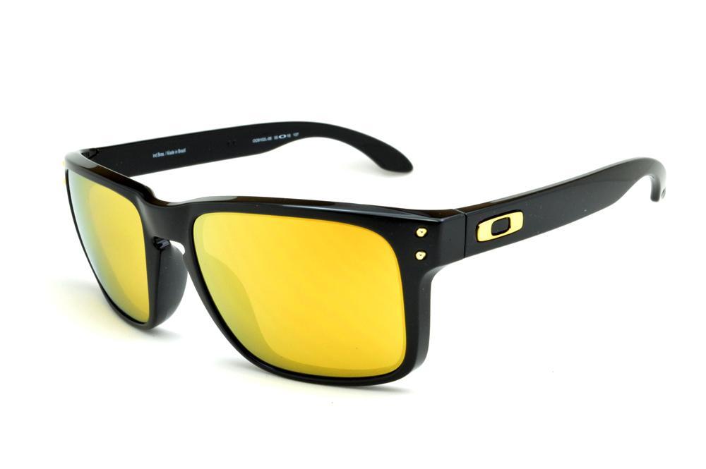 5cece2bde Óculos Oakley OO9102L Holbrook Shaun White preto e lente amarela
